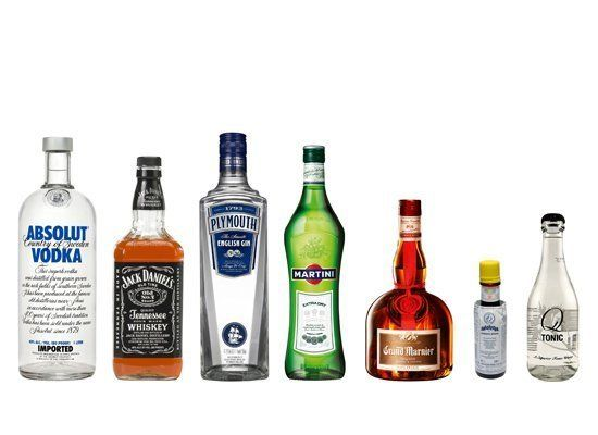 Start with the basics. You'll want to stock alcohols that are popular, can be enjoyed on the rocks, and can easily be mixed t
