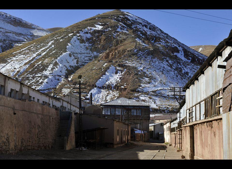 Pulacayo, a former mining center near the Uyuni salt flat, in the Potosi department, Bolivia. The Uyuni salt flat has an area