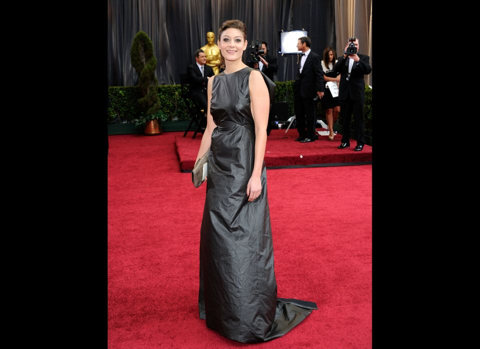 Anne-Sophie Bion, nominated for Film Editing for 'The Artist' arrives at the 84th Annual Academy Awards.