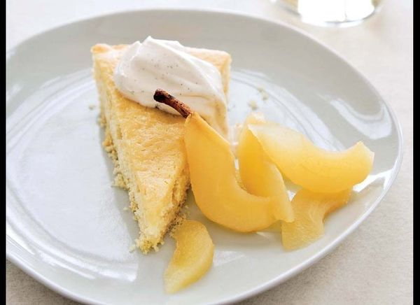 A tangy and spongy buttermilk cake recipe is the perfect backdrop to serve poached fruit with -- or even a fresh compote. Fee