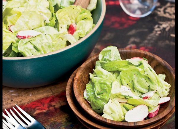 When making this salad, be sure to make a big batch of the dressing. It's definitely one you'll want waiting for you in the f