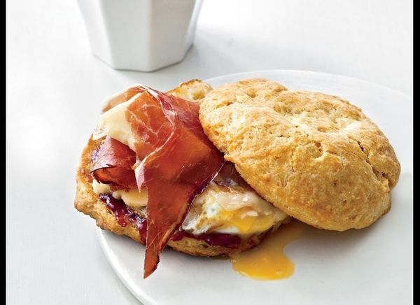 Breakfast sandwiches are good, but when they're made out of homemade biscuits, country ham, a fried egg, and a slather of ras