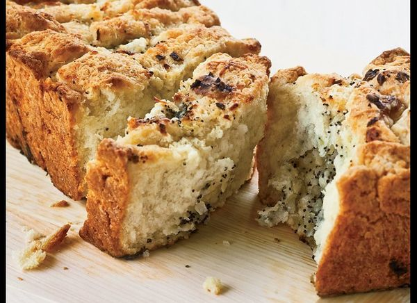 You know your in luck when the words cheesy and bread appear in the same sentence together. This quick bread is everything it