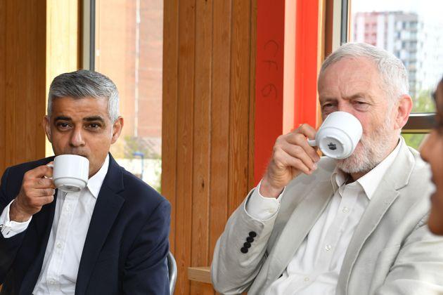 Labour leader Jeremy Corbyn and the Mayor of London Sadiq Khan