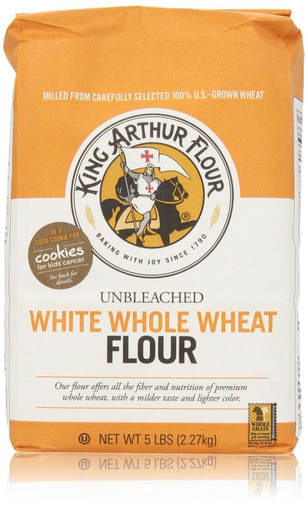 <strong>What it is:</strong> White whole-wheat flour is made from hard white wheat, which results in a paler color than regul