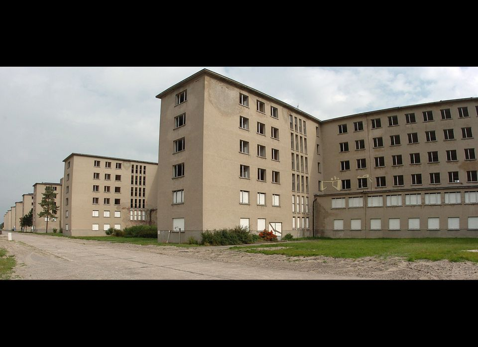 The 4.5 kilometres long building complex of the former Nazi holiday camp is seen in Prora on the Baltic Sea island Ruegen, no