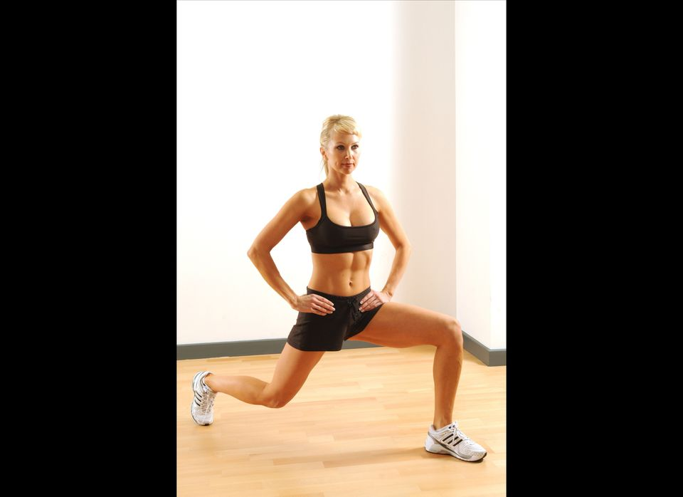 <strong>Move: Static lunge</strong>  Even without weight, a static lunge can burn and shape your butt, thighs and calves wh