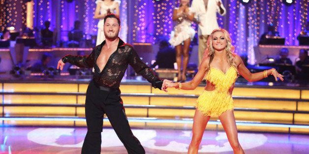 DANCING WITH THE STARS THE RESULTS SHOW - 'Episode 1607A' - 'Dancing with the Stars the Results Show' aired TUESDAY, APRIL 30 (9:00-10:01 p.m., ET), on ABC. (Photo by Adam Taylor/ABC via Getty Images) VAL CHMERKOVSKIY, WITNEY CARSON