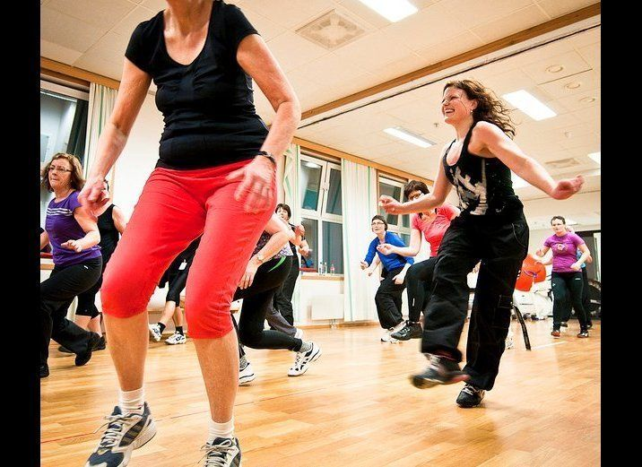 This is no yoga class -- there's no need to be quiet or serene when you enter a Zumba studio. In fact, you might feel more li
