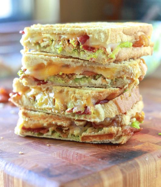 """<strong>Get the <a href=""""http://thenoshery.com/chicken-bacon-and-avocado-panini/"""" target=""""_blank"""">Chicken, Avocado and Bacon"""