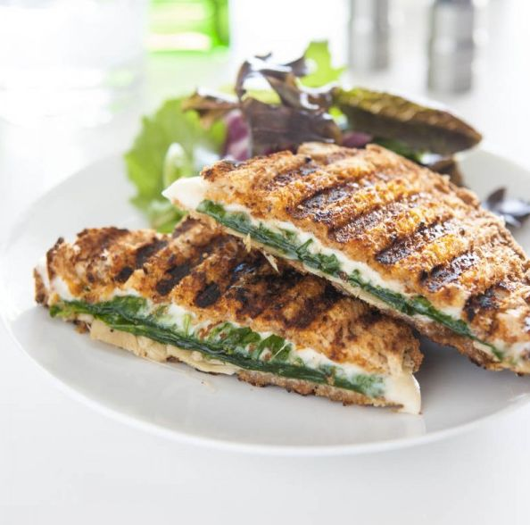"""<strong>Get the <a href=""""http://eclecticrecipes.com/spinach-artichoke-sun-dried-tomato-panini"""" target=""""_blank"""">Spinach, Artic"""