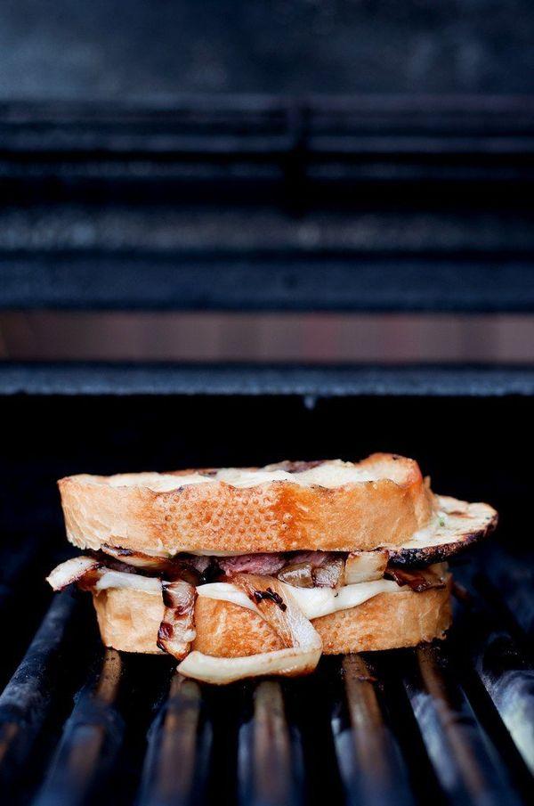 "<strong>Get the <a href=""http://bsinthekitchen.com/steak-potato-barbecued-grilled-cheese/"">Steak & Potato Barbecued Grilled C"