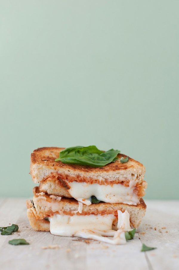 """<strong>Get the <a href=""""http://bsinthekitchen.com/the-margherita-pizza-grilled-cheese/"""">Margherita Pizza Grilled Cheese reci"""