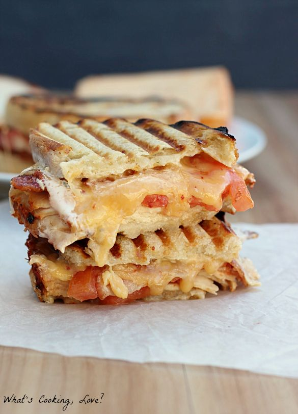"""<strong>Get the <a href=""""http://whatscookinglove.com/2014/03/chipotle-chicken-bacon-ranch-panini/"""" target=""""_blank"""">Chipotle C"""