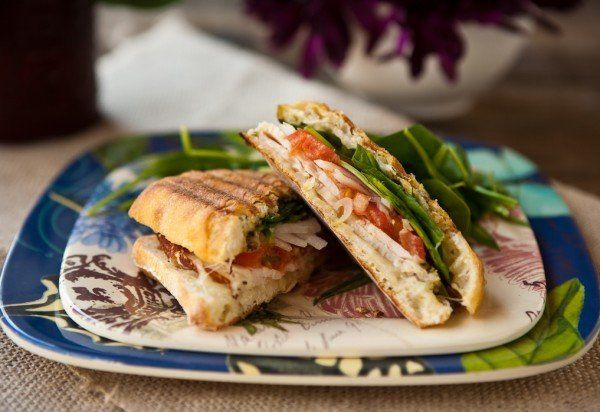 """<strong>Get the <a href=""""http://eclecticrecipes.com/roast-chicken-and-spinach-panini"""" target=""""_blank"""">Roast Chicken and Spina"""