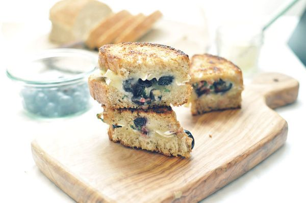 """<strong>Get the <a href=""""http://www.ilanafreddye.com/2012/12/blueberry-brie-grilled-cheese.html"""">Blueberry Brie Grilled Chees"""
