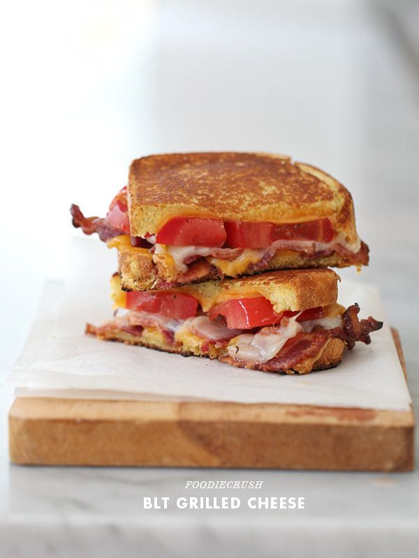"""<strong>Get the <a href=""""http://www.foodiecrush.com/2012/08/blt-grilled-cheese-recipe/"""">BLT Grilled Cheese recipe from Foodie"""