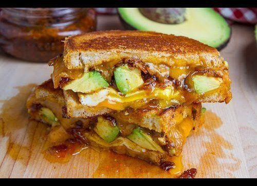 """<strong>Get the <a href=""""http://www.closetcooking.com/2012/08/bacon-jam-and-avocado-grilled-cheese.html"""" target=""""_hplink"""">Bac"""