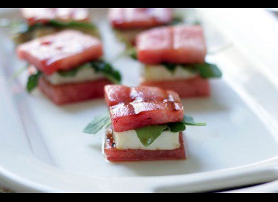"""<strong>Get the <a href=""""http://www.brit.co/summer-comfort-food-watermelon-grilled-cheese-bites/"""" target=""""_hplink"""">Watermelon"""