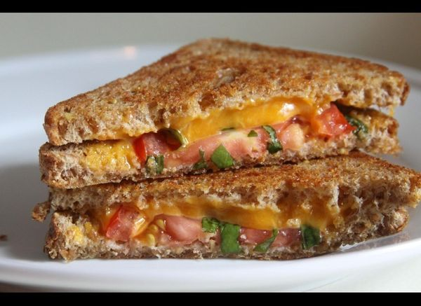 """<strong>Get the <a href=""""http://espressoandcream.com/2012/07/tomato-basil-grilled-cheese.html"""" target=""""_hplink"""">Tomato Basil"""