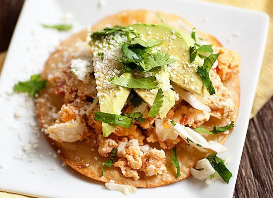 "<strong>Get the <a href=""http://www.bunsinmyoven.com/2013/02/14/breakfast-tostadas/"" target=""_blank"">Scrambled Egg Tostada re"