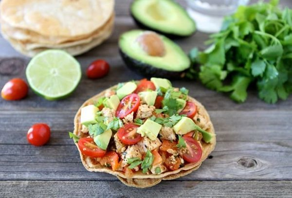 "<strong>Get the <a href=""http://www.twopeasandtheirpod.com/tofu-tostadas/"" target=""_blank"">Tofu Tostadas recipe</a> by Two Pe"