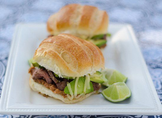 "<strong>Get the <a href=""http://www.pink-parsley.com/2012/03/mexican-style-steak-sandwiches.html"" target=""_hplink"">Steak Tort"