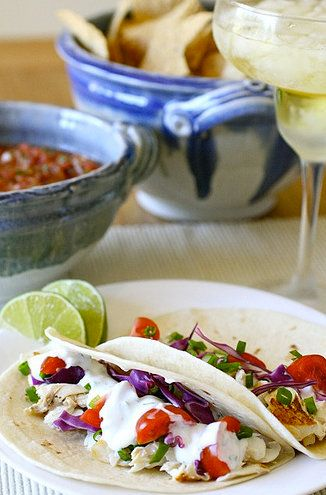 "<strong>Get the <a href=""http://www.annies-eats.com/2010/08/10/white-fish-tacos/"" target=""_blank"">White Fish Tacos recipe</a>"