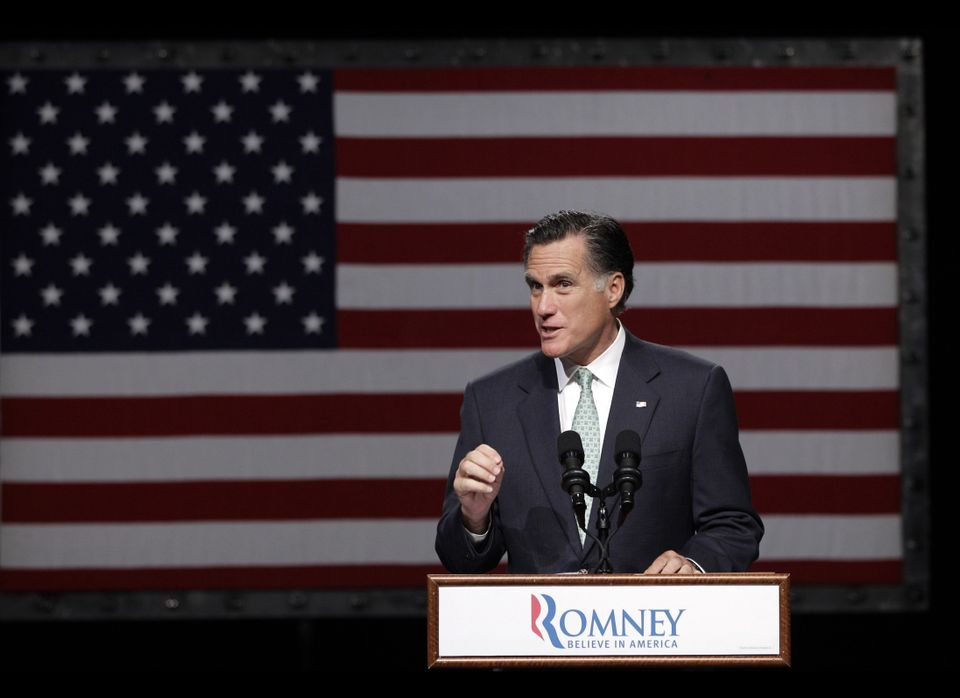 """I believe marriage is a relationship between a man and a woman,"" Mitt Romney said."