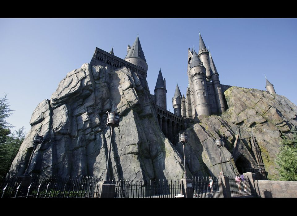 Hogwarts Castle is seen at The Wizarding World of Harry Potter at Universal Orlando theme park in Orlando, Fla. AP Photo/John
