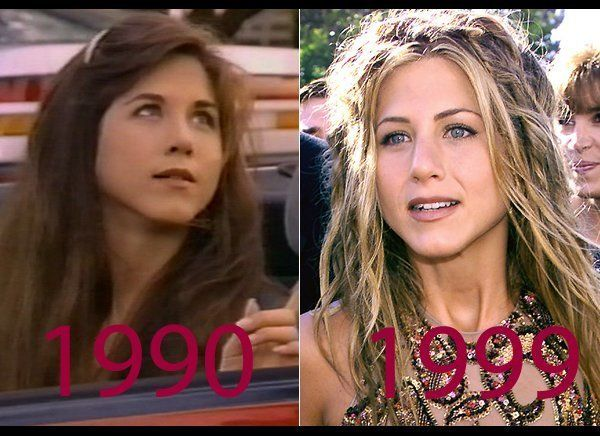 """21-year-old Jennifer made an appearance on the """"Ferris Bueller"""" TV show; by 30, she was well past the """"Rachel"""" haircut days a"""
