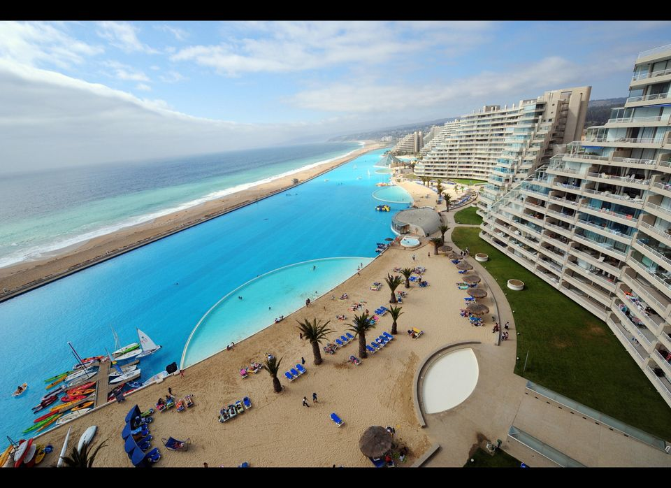 Largest Pool In Chile >> World S Largest Outdoor Pool At Chile S San Alfonso Del Mar