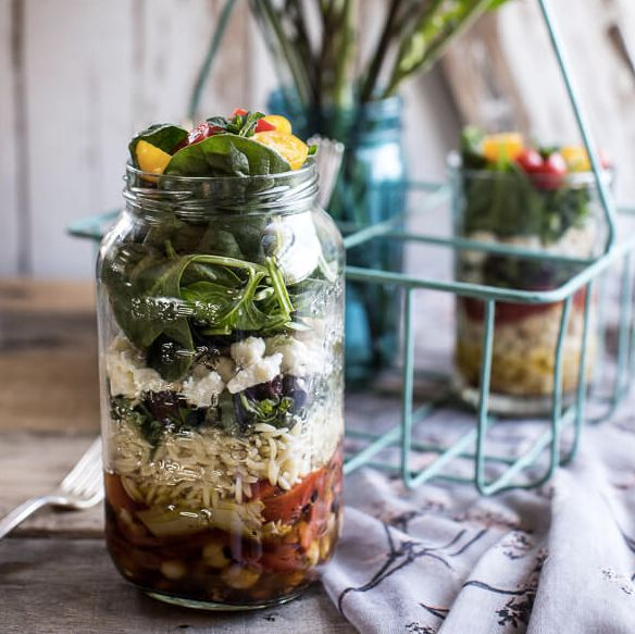 """<strong>Get the <a href=""""http://www.halfbakedharvest.com/easy-layered-mediterranean-orzo-pasta-salad/"""" target=""""_blank"""">Easy L"""