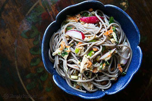 "<strong>Get the <a href=""http://www.simplyrecipes.com/recipes/asian_tuna_salad/"" target=""_blank"">Asian Tuna Salad recipe</a>"