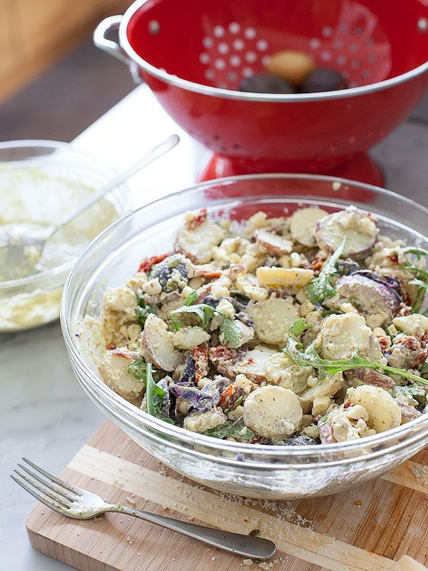 "<strong>Get the <a href=""http://www.foodiecrush.com/2013/06/stetson-chunky-potato-salad/"" target=""_blank"">Stetson Potato Sala"