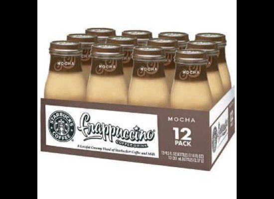 "The 9.5-ounce Starbucks to go contains <a href=""http://www.frappuccino.com/en-us/products/bottled-frappuccino"" target=""_hplin"