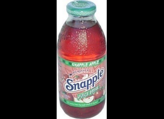 "There are <a href=""http://www.snapple.com/#/products/Snapple Apple"" target=""_hplink"">100 calories in every 8 ounces</a> of th"