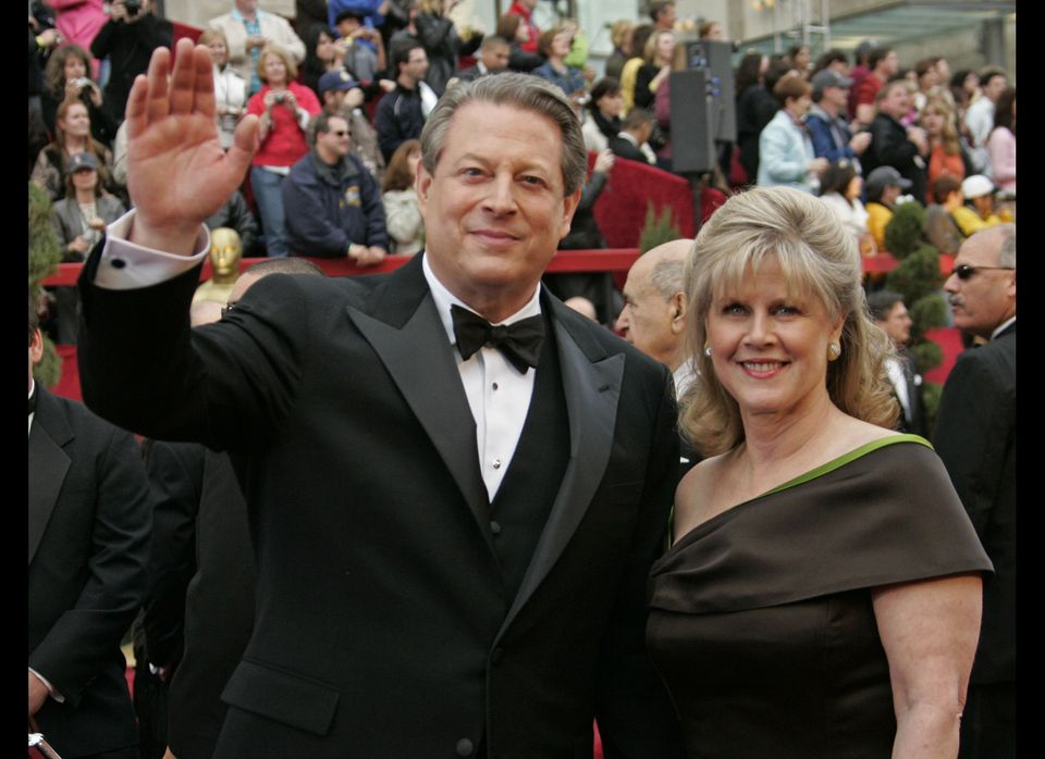"Former Vice President Al Gore and his wife, Tipper, first shocked the nation with their intense lip-lockin' at the <a href=""h"
