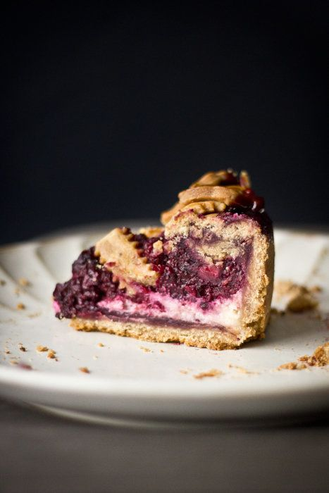 """<strong>Get the <a href=""""http://www.adventures-in-cooking.com/2011/12/blackberry-cream-cheese-pie.html"""" target=""""_blank"""">Black"""