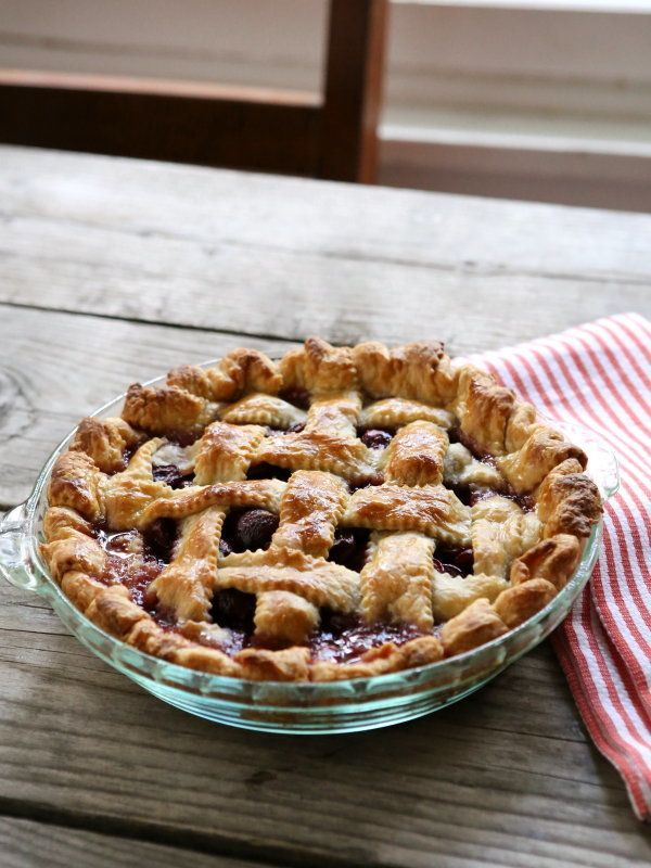 """<strong>Get the <a href=""""http://www.completelydelicious.com/2014/06/sweet-cherry-pie.html"""" target=""""_blank"""">Sweet Cherry Pie r"""