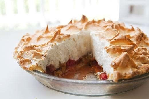 "<strong>Get the <a href=""http://www.simplyrecipes.com/recipes/rhubarb_orange_meringue_pie/"" target=""_blank"">Rhubarb Meringue"