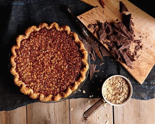 """<strong>Get the <a href=""""http://food52.com/recipes/24910-black-bottom-oatmeal-pie"""" target=""""_blank"""">Black Bottom Oatmeal Pie r"""