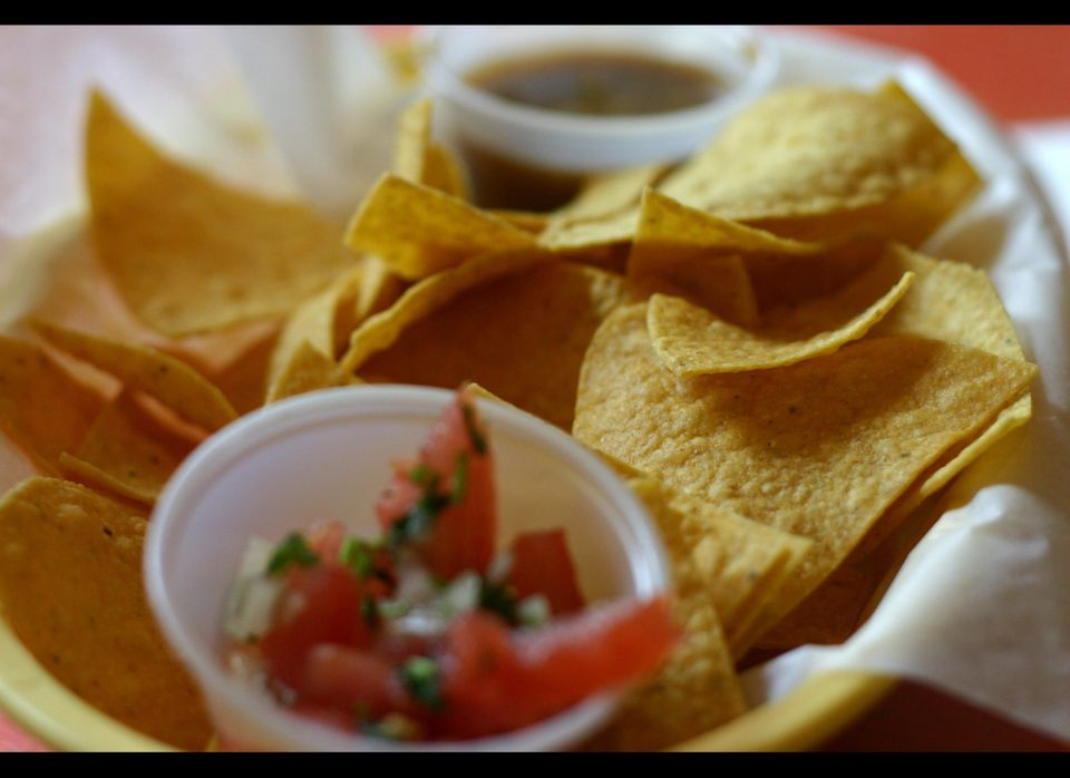 When your to-go order includes a brown bag stuffed to the brim with warm tortilla chips, it can be tempting to keep dipping b