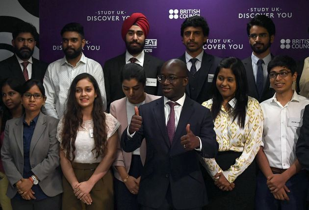 Sam Gyimah, pictured above meeting with Indian students go got scholarships in the UK, has written to...