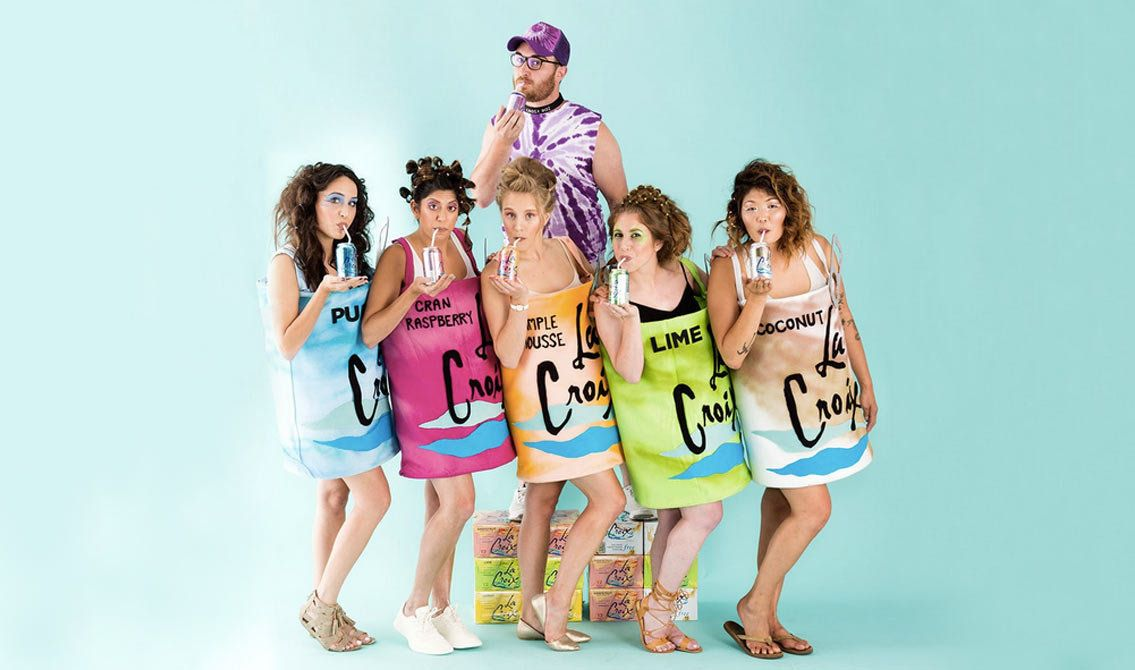 "Learn how to make these costumes <a href=""https://www.brit.co/la-croix-halloween-costumes/"" target=""_blank"">here</a>."