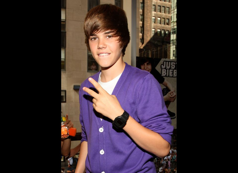 Musician Justin Bieber visits the Nintendo World Store on September 1, 2009 in New York City.  (Photo by Bryan Bedder/Getty I
