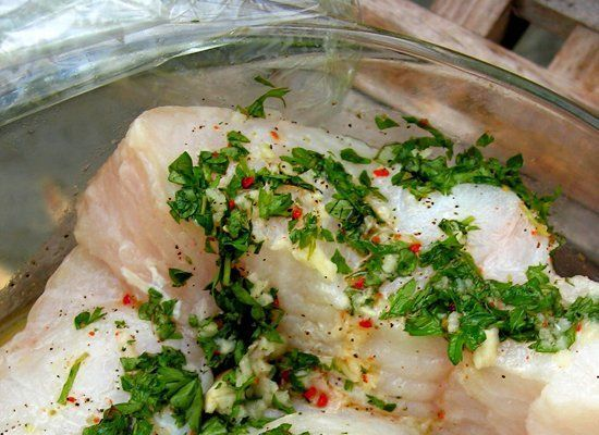 Almost all fish benefits from a flavorful marinade. Some oil, acid, herbs and/or spices are all you need to make a marinade -