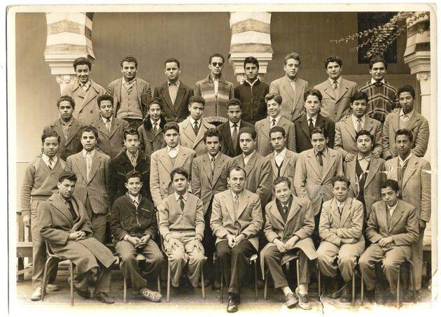 Mustapha Ben Jaafar, assis à gauche de M. Blanzé professeur de