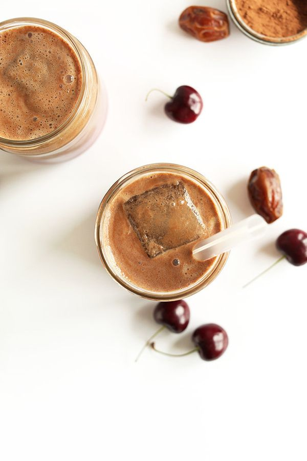 "<strong>Get the <a href=""http://minimalistbaker.com/chocolate-cherry-almond-milk/"" target=""_blank"">Chocolate Cherry Almond Mi"