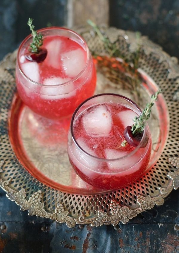 "<strong>Get the <a href=""http://www.versesfrommykitchen.com/2012/08/the-remedy.html"" target=""_blank"">Grilled Cherry Sour reci"